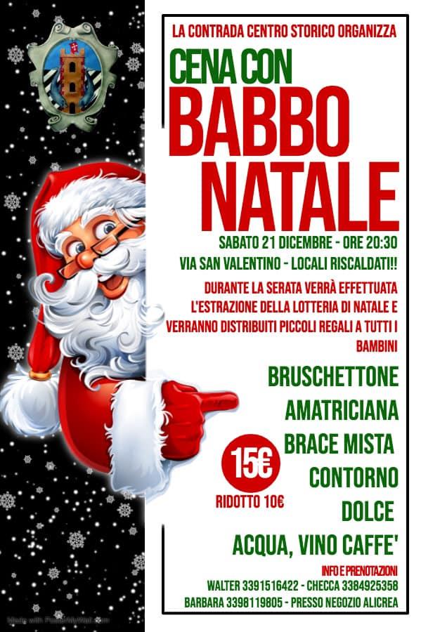 Palio di Bientina, Contrada Centro Storico: 21/12 Cena con BabboNatale