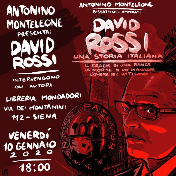 Siena, Libreria Mondadori: 10/01 David Rossi-Una storiaitaliana