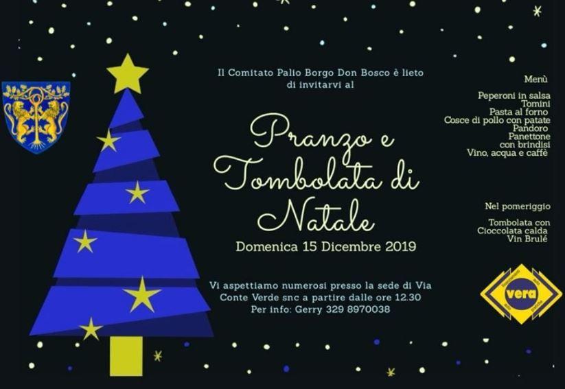 Palio di Asti, Comitato Palio Borgo Don Bosco: 15/12 Pranzo e Tombolata diNatale