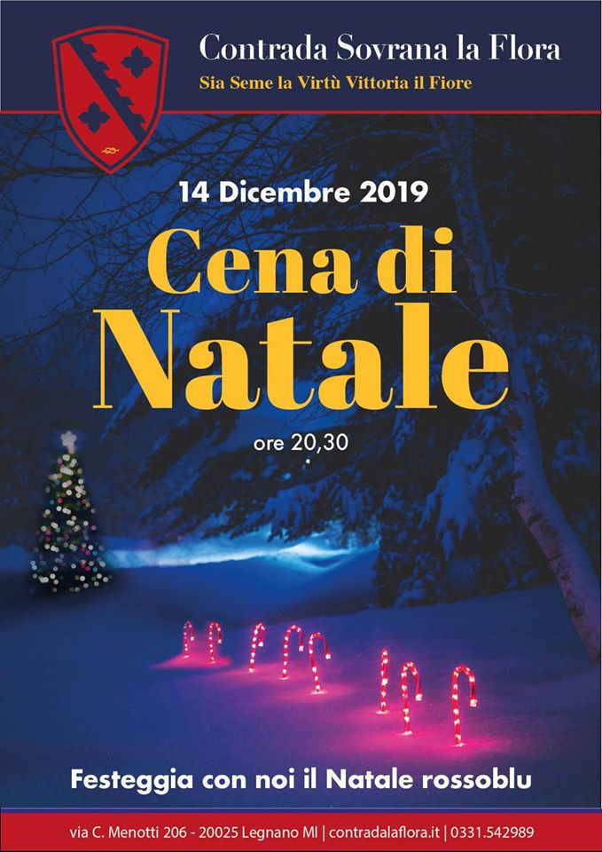 Palio di Legnano, Contrada La Flora: 14/12 Cena di Natale2019