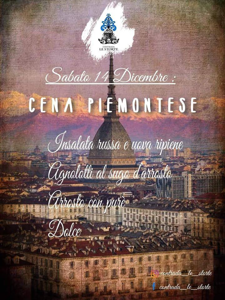 Palio di Castel del Piano, Contrada Le Storte: 14/12 CenaPiemontese