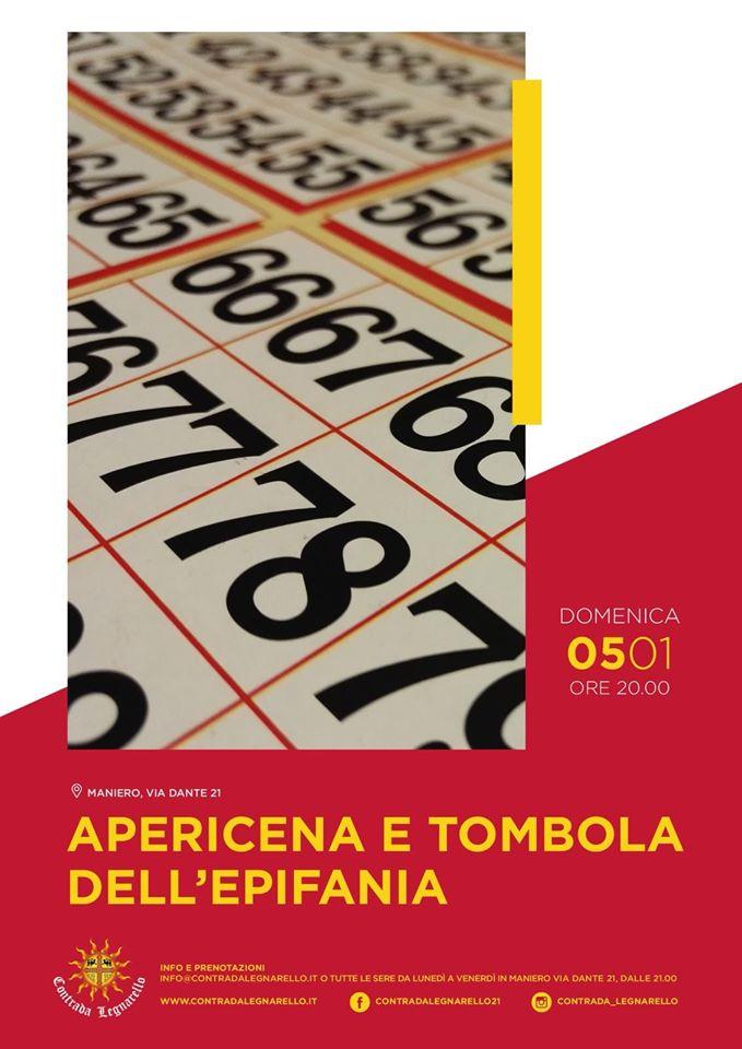 Palio di Legnano, Contrada Legnarello: Domani 05/01 Apericena e Tomboladell'Epifania
