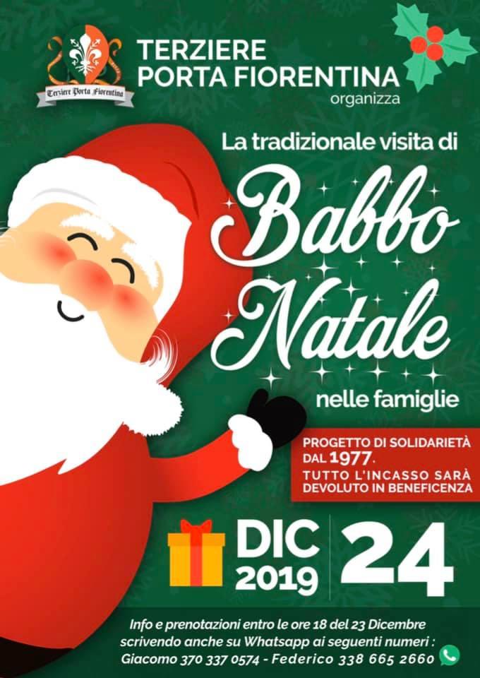 Palio di Castiglion Fiorentino, Terziere Porta Fiorentina: 24/12 Tradizionale Visita di BabboNatale