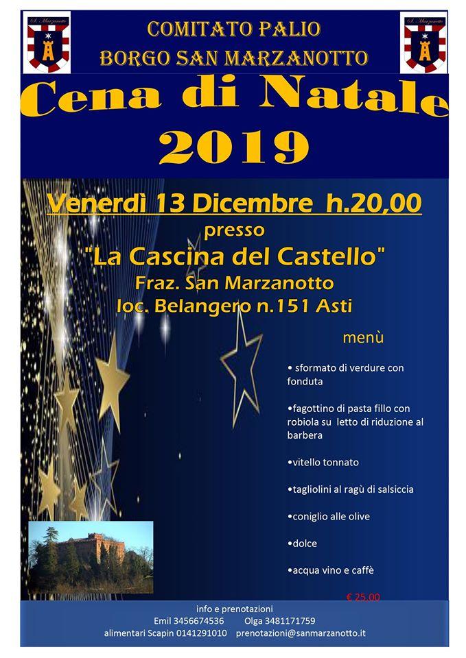 Palio di Asti, Comitato Palio Borgo San Marzanotto: 13/12 Cena di natale2019