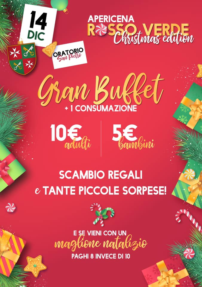 Palio di Asti, Borgo San Pietro: 14/12 Aperitivo Rosso Verde ChristmasEdition