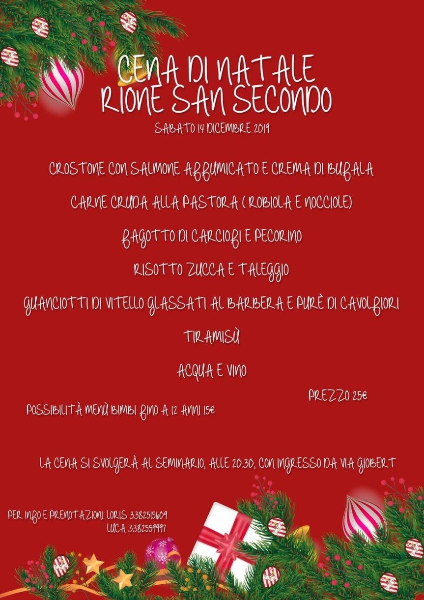 Palio di Asti, Comitato Palio Rione San Secondo: 14/12 Cena diNatale