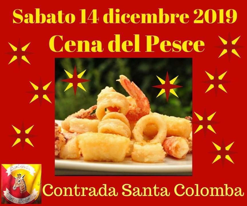 Palio di Bientina, Contrada Santa Colomba: 14/12 Cena diPesce