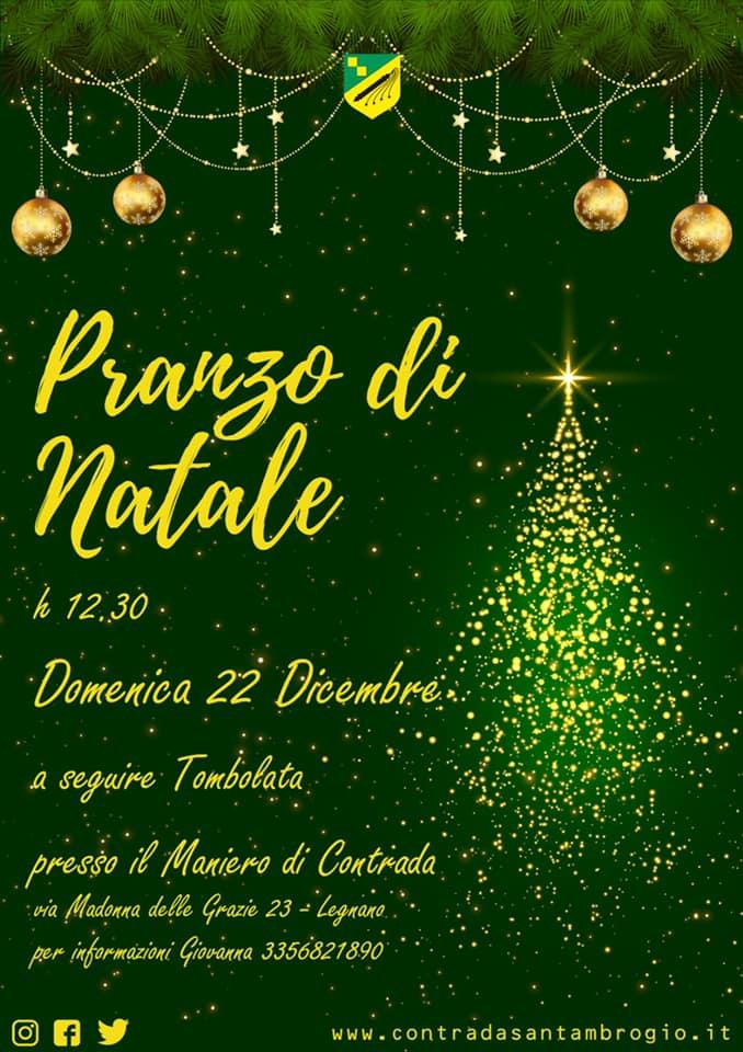 Palio di Legnano, Contrada Sant'Ambrogio: 22/12 Pranzo diNatale