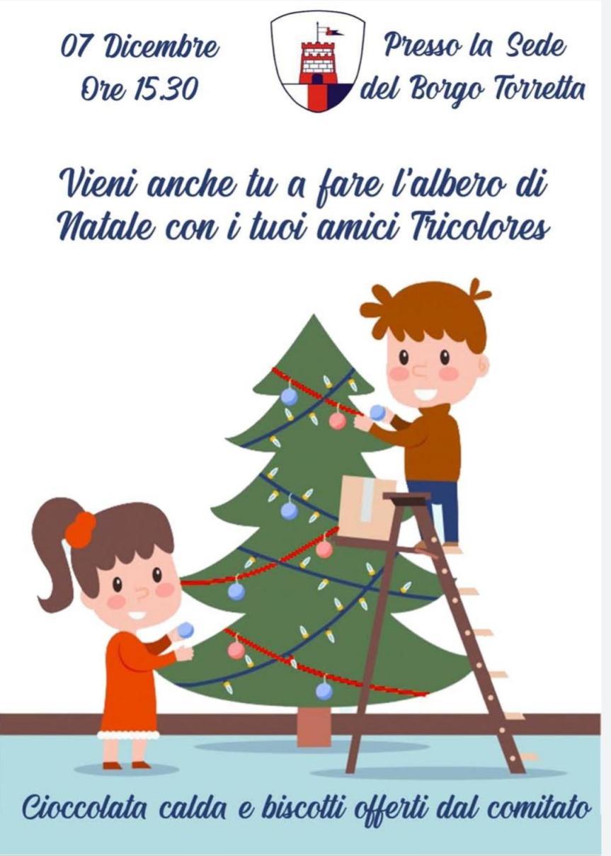 Palio di Asti, Comitato Palio Borgo Torretta: 07/12 I  Piccoli Torrettini addobbano l'Albero dnatale