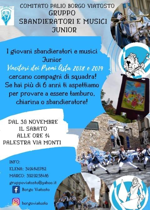 Palio di Asti, Borgo Viatosto: Cercasi Sbandieratori e MusiciJunior