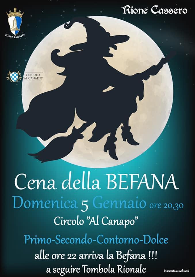 Palio di Castiglion Fiorentino, Rione Cassero: 05/01 Cena dellaBefana