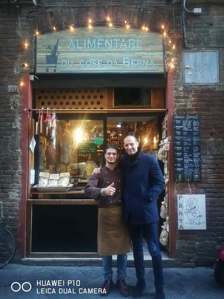 Massi Lo Sà, Sponsor: Max Allegri e Ambra Angiolini ieri 06/01 hanno pranzato daBerna