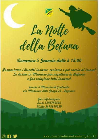 palio di legnano, Contrada Sant'Ambrogio: 05/01 La Notte dellaBefana