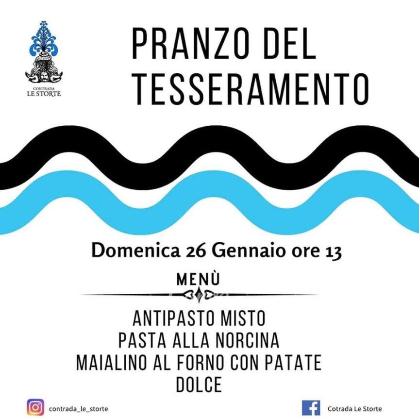 Palio di Castel del Piano, Contrada Le Storte: 26/01 Pranzo delTesseramento