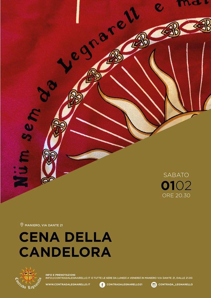 Palio di Legnano, Contrada Legnarello: 01/02 Cena dellaCandelora