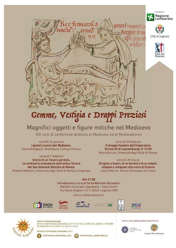 Palio di Legnano, Contrada Legnarello: 24/01 Gemme, Vestigia e Drappi Preziosi – Il Medioevo aLegnarello