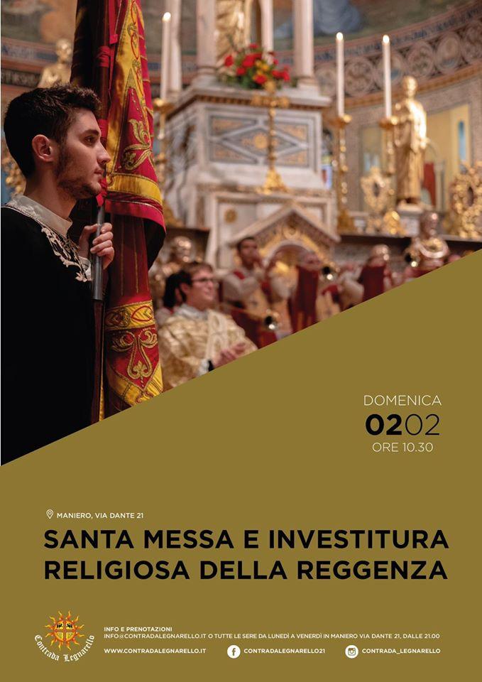 """Palio di Legnano, Contrada Legnarello: 02/02 Santa Messa e Investitura Religiosa Reggenza e Sagra Popolare del """"Caru Mi CaruTi"""""""