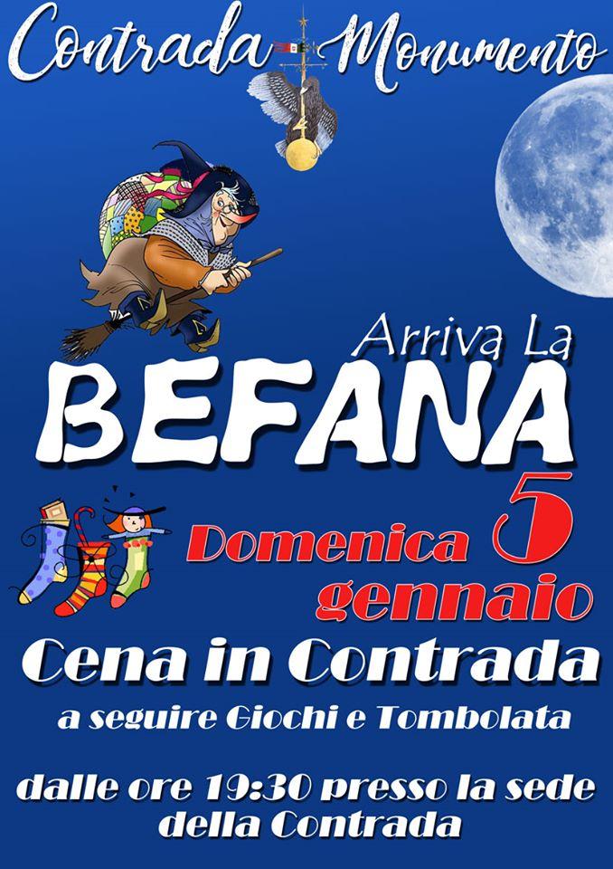 Palio di Castel del Piano, Contrada Momunento: 05/01 Arriva laBefana