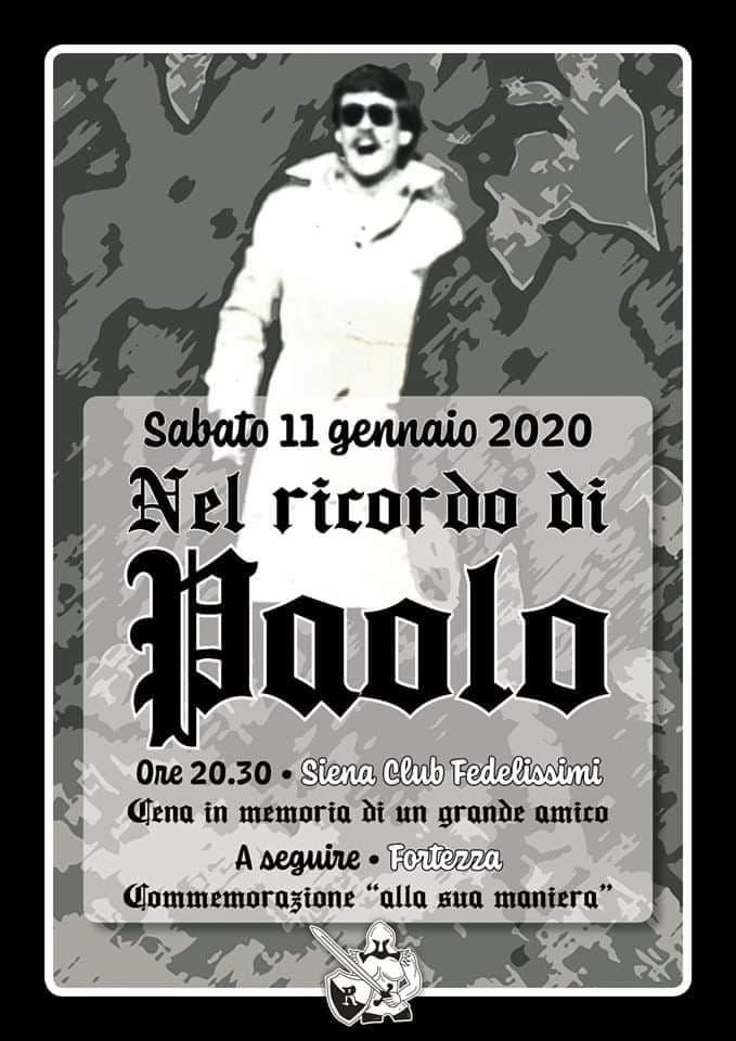Siena, Siena Club Fedelissimi: 11/01 Serata nel ricordo di PaoloCastellarin
