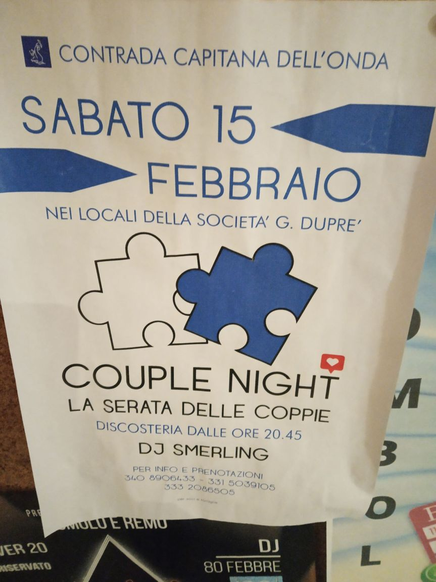 Siena, Contrada dell'Onda: 15/02 Serata delleCoppie
