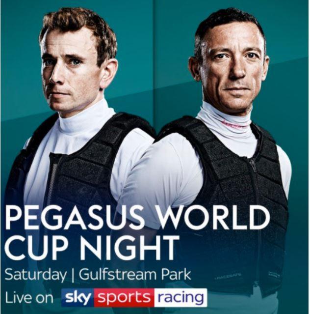Ippica, America:  Oggi 25/01 Tutto pronto per la Pegasus World Cup! 12 corse in diretta in Italia, ecco il PDFcompleto