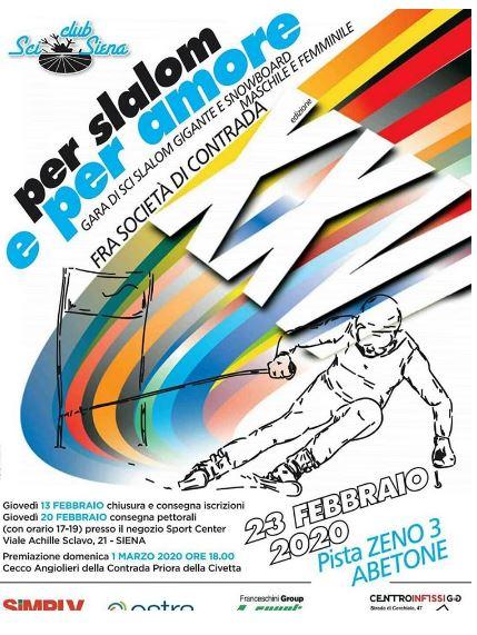 Siena, Contrada della Chiocciola:Domenica 23/02 Per Slalom e perAmore