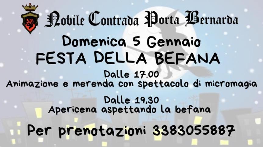 Palio di Fucecchio, Contrada Porta Bernarda: 05/01 Aspettando laBefana
