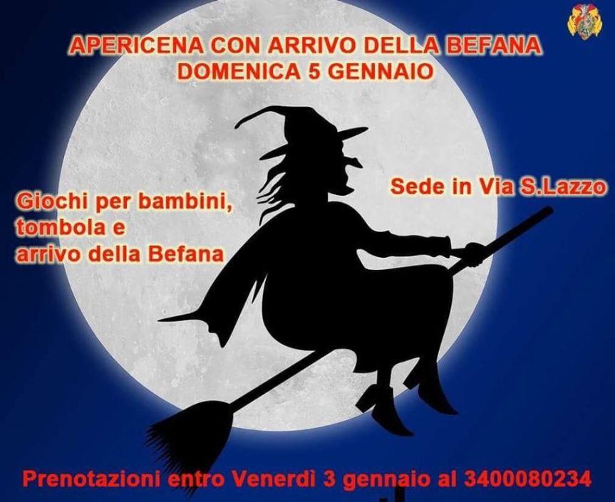 palio di Castiglion Fiorentino, Rione Porta Romana: 05/01 Apericena con arrivo dellaBefana