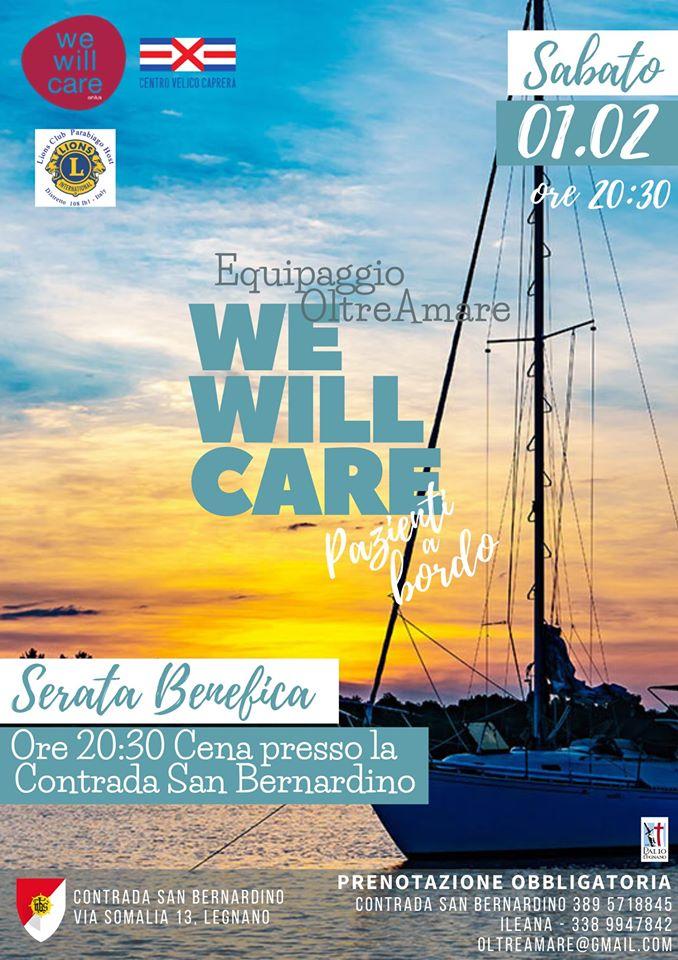Palio di Legnano, Contrada San Bernardino: 01/02 Serata Benefica – WeWillCare Pazienti a BordoOltreAmare