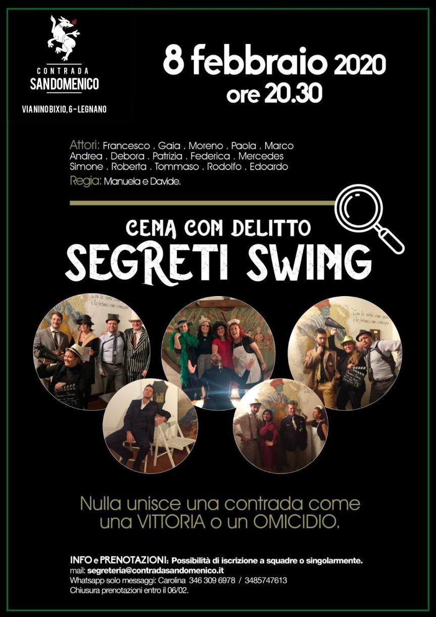 """Palio di legnano, Contrada San Domenico: 08/02 Cena con Delitto """"SegretiWing"""""""