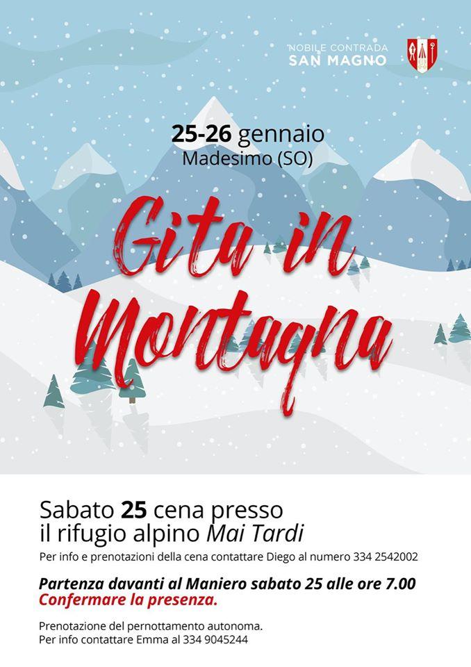 Palio di Legnano, Contrada San Magno: 25-26/01 Gita inMontagna