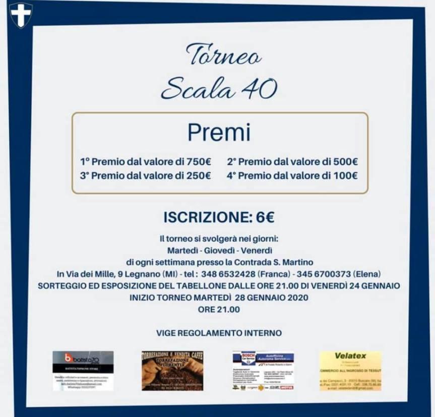 Palio di Legnano, Contrada San Martino: 28/01 Torneo di Scala40