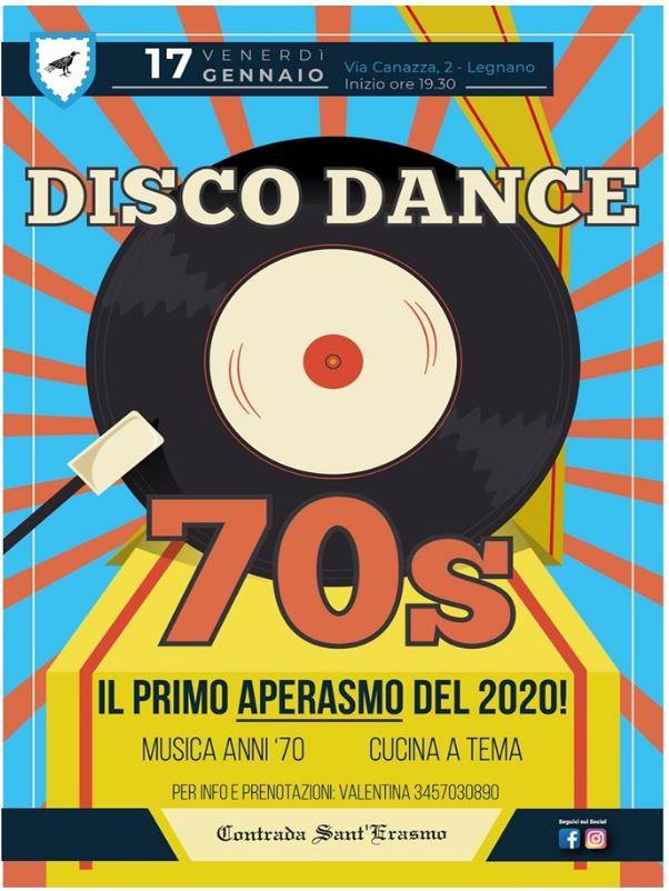 Palio di Legnano, Contrada Sant'Erasmo: 17/01 Aperitivo Disco Dance70's