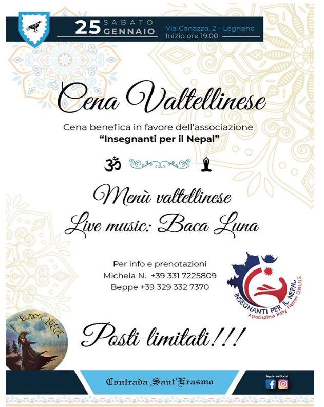 Palio di Legnano, Contrada Sant'Erasmo: 25/01 CenaValtellinese