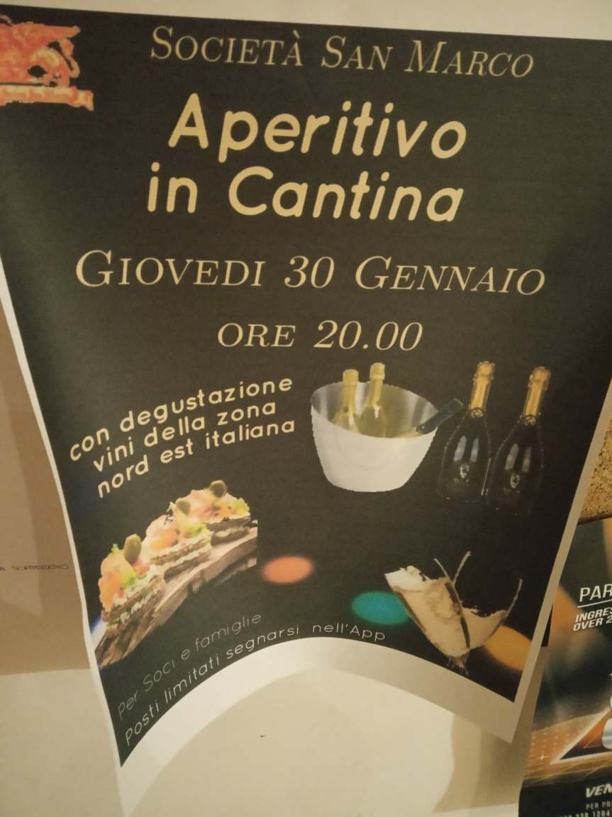 Siena, Società San Marco: 30/01 Aperitivo inCantina