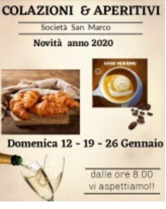 Siena, Società San marco: 12-19-26/01 Colazioni & Aperitivi in società la domenicamattina