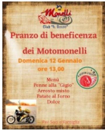 Siena, Società San Marco: 12/01 Pranzo diBeneficenza