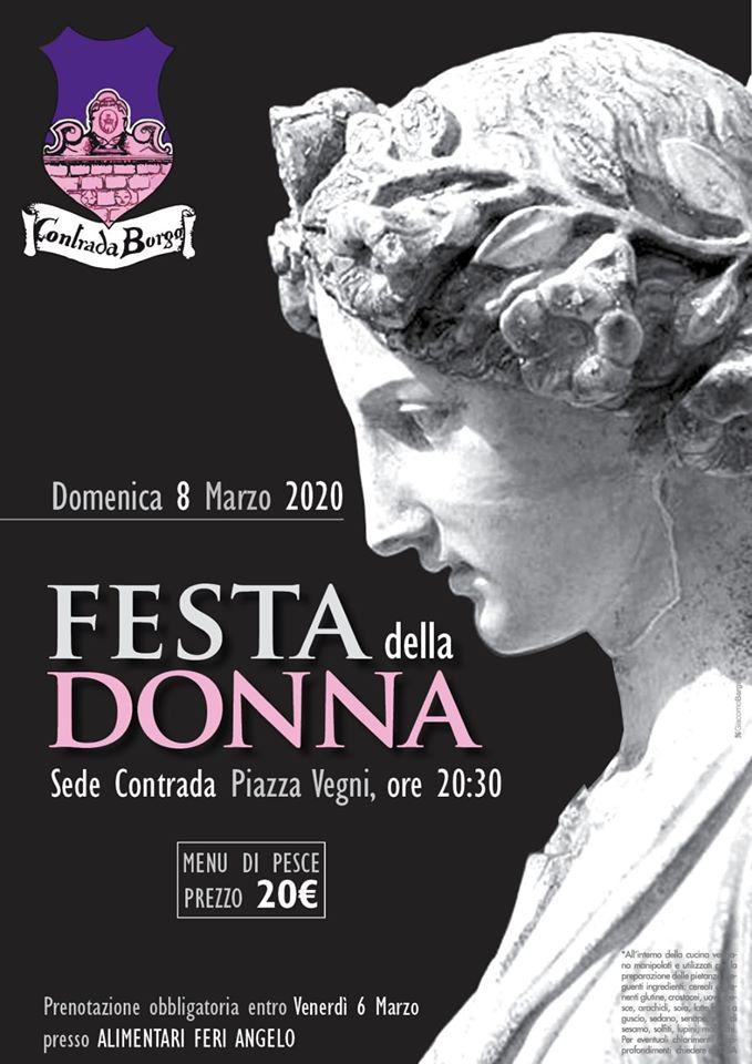 palio di Castel del piano, Contrada Borgo: 08/03 Festa DellaDonna