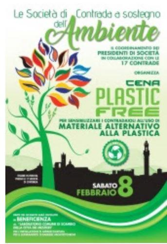 "Siena, Contrada del Valdimontone: 08/02 Cenino ""PlasticFree"""