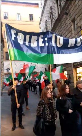 Siena Per le vie del centro di Siena il corteo in memoria dei martiri delleFoibe