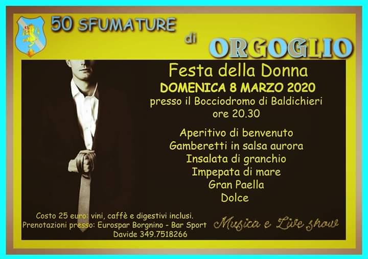 Palio di Asti, Comitato Palio Baldichieri: 08/03 Festa della Donna 50 Sfumature diOrgoglio