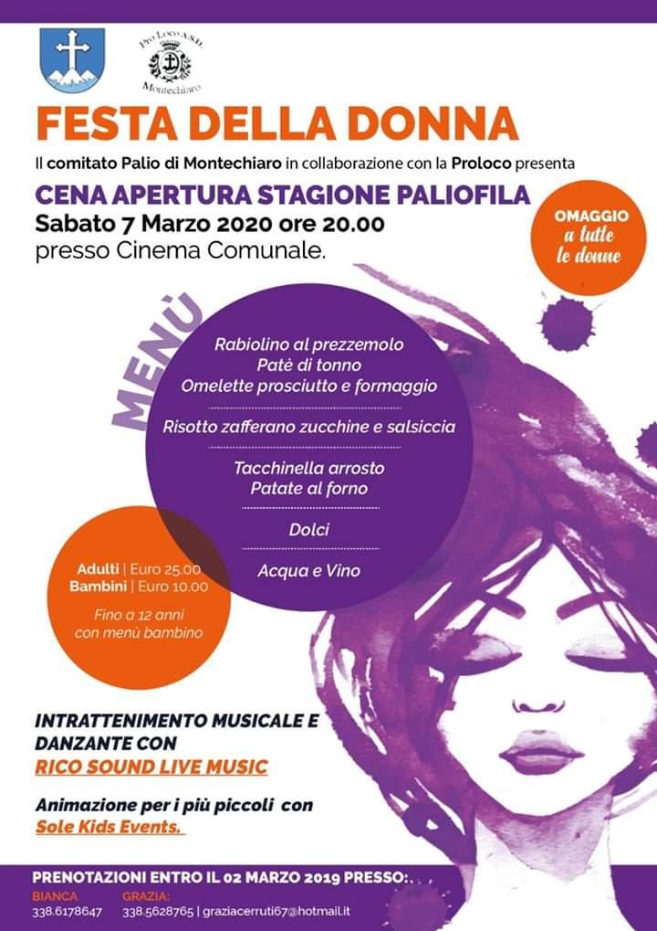 Palio di Asti, Comitato Palio Montechiaro: 07/03 Festa dellaDonna