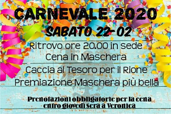 Palio di Asti, Comitato Palio Rione Cattedrale: 22/02 Carnevale2020