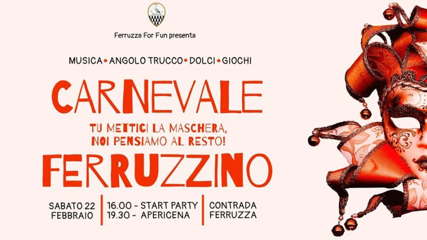 Palio di Fucecchio, Contrada Ferruzza: Domani 22/02 CarnevaleFerruzzino