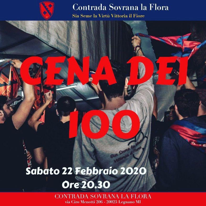 Palio di Legnano, Contrada La Flora: 22/02 Cena dei100