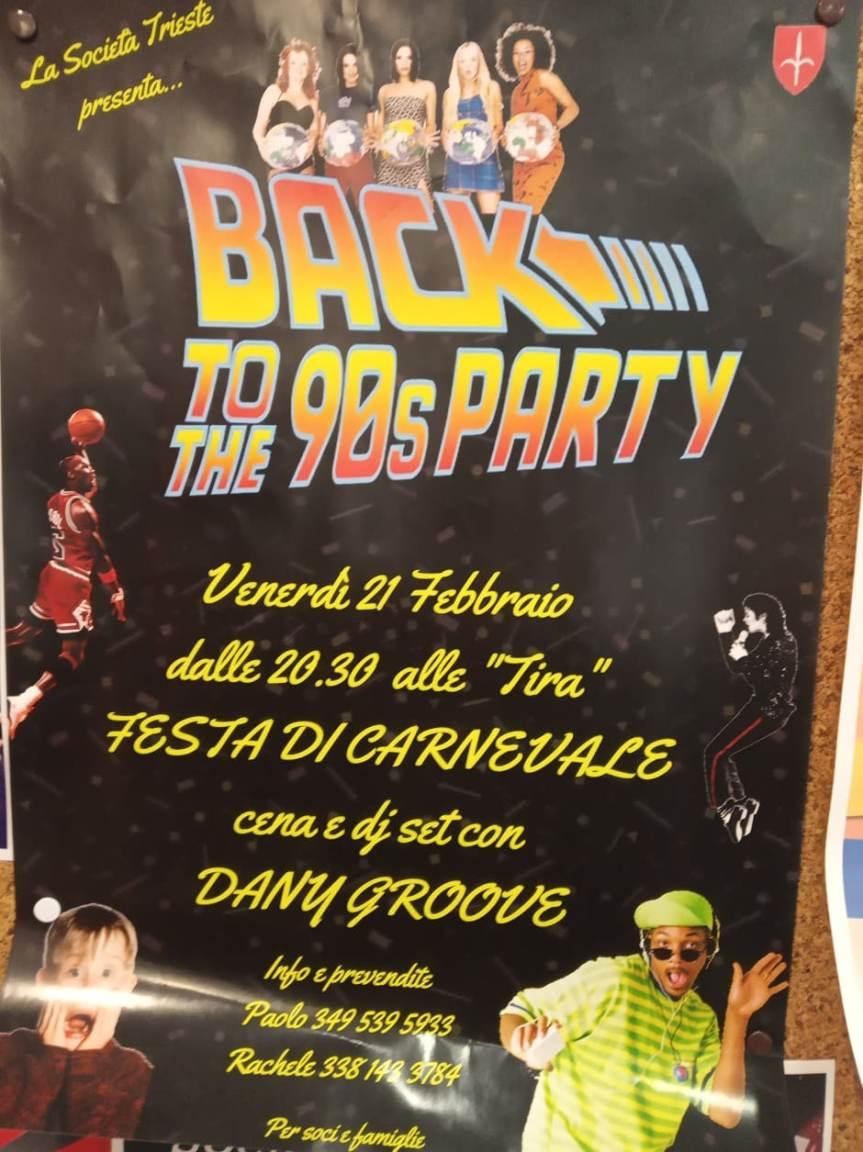 """Siena, Contrada dell'Oca: Oggi 21/02 """"Carnevale Back to the 90sParty"""""""