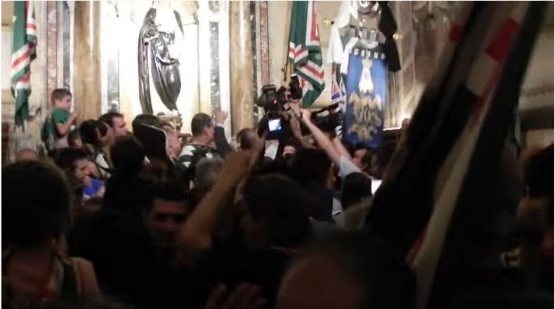 Palio di Siena: Te Deum in Santa Caterina dopo la vittoria delPalio