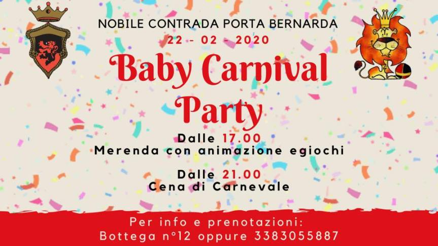 Palio di Fucecchio, Contrada Porta Bernarda: 22/02 Baby CarnivalParty