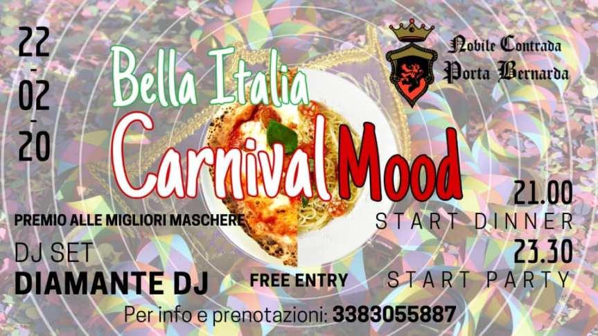 Palio di Fucecchio, Contrada Porta Bernarda: 22/02 Bella Italia – CarnevalMood