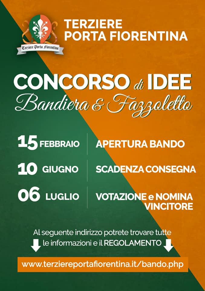 Palio di Castiglion Fiorentino, Terziere Porta Fiorentina: Concorso di idee Bandiera&Fazzoletto